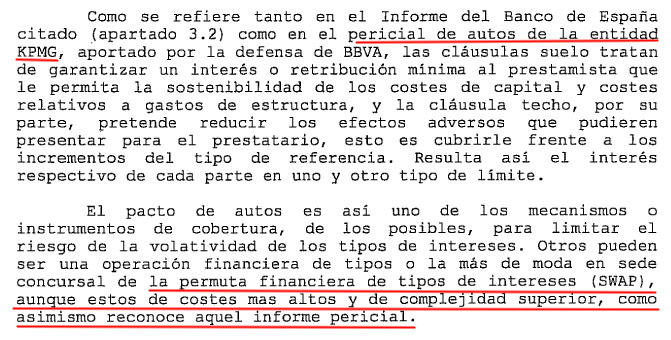 Swaps en la Sentencia de la Cláusula Suelo de Sevilla
