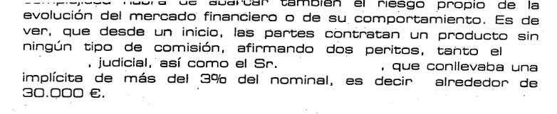 Comisiones implícitas del 3%. BBVA.