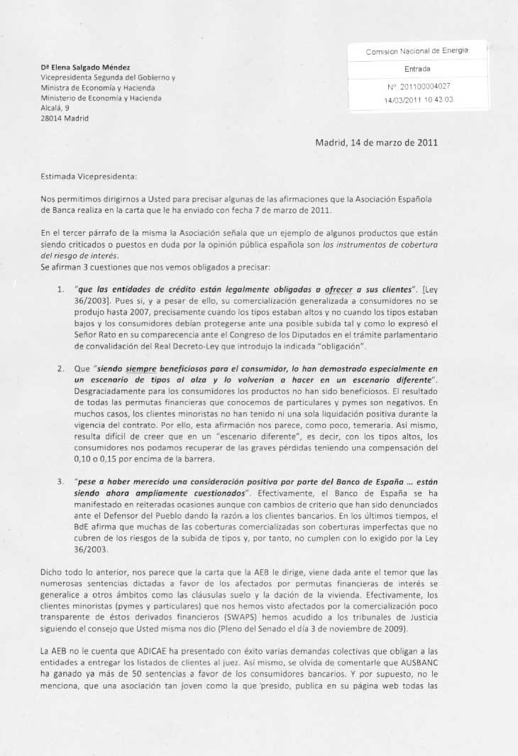 Asuapedefin Responde A La Carta De La Aeb