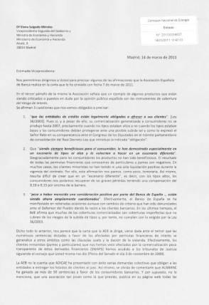 14/03/2011, Copia Sellada de la Carta de ASUAPEDEFIN a la Ministra Salgado