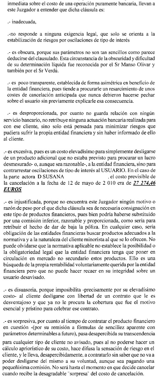 Cláusula Cancelación Banco Popular